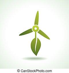 wind turbines with leaf