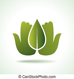 Think Green Ecology Concept icon