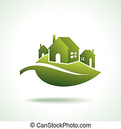 energy eco icon with house