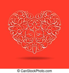 Heart with floral design