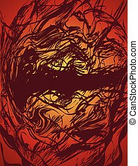 chaotic abstract sketch scribble background design
