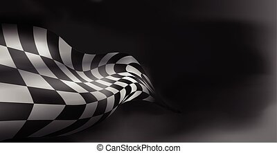 checkered race flag. Racing flags. Background checkered flag...