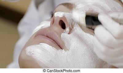 Applying Facial Mask - Applying Final Facial Mask At Spa...
