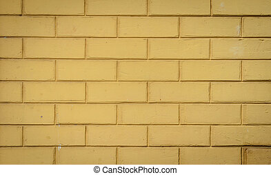 Yellow brick wall background - Yellow brick wall pattern...