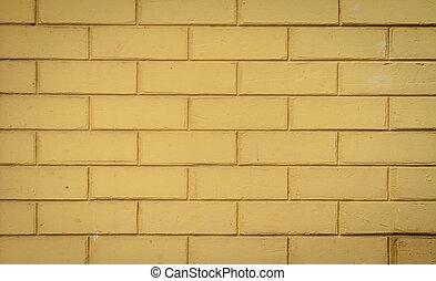 Yellow brick wall background - Yellow brick wall pattern...