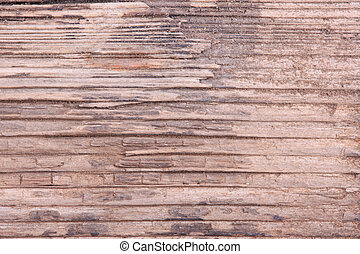 texture of the old rotten wood closeup