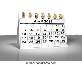 Desktop Calendar April, 2011 A full series for 2011 in my...