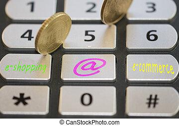 concept of e-commerce and e-shopping - concept of e-shopping...