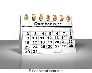 Desktop Calendar. October, 2011. A full series for 2011 in...