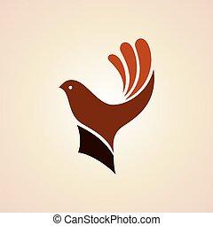 hand with bird. creative idea