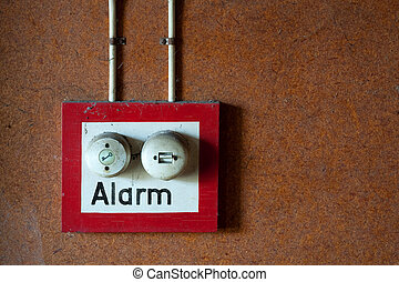 Alarm button - Red bordered alarm button with two switches