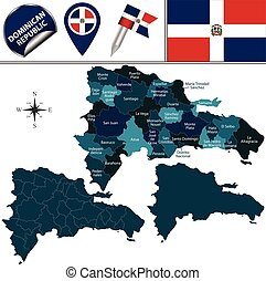 Map of Dominican Republic - Vector map of Dominican Republic...
