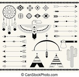 Tribal native american indian element. - Navajo american...