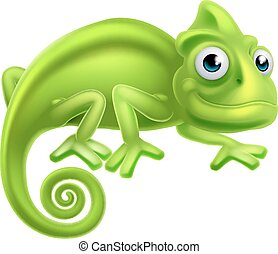 Cartoon Chameleon - A cartoon cute chameleon lizard...
