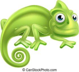 Cartoon Chameleon - A cartoon cute chameleon lizard...