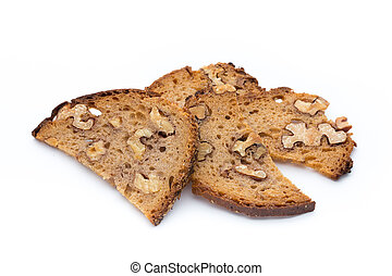 Rye bread crisps with walnuts - Bread crisps with walnuts
