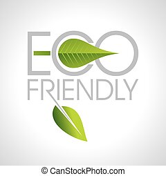 Eco friendly word made of green