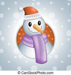 snowman2 vector illsutration