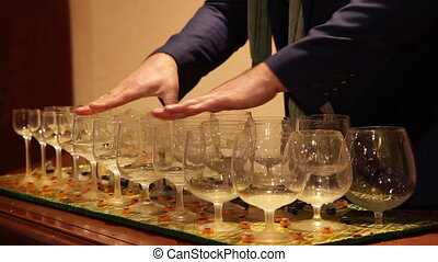 Classical Wine Glass Music - Man Plays Music with Wine...