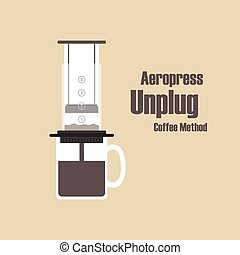 aeropress - Aeropress, unplug coffee methods, pastel style