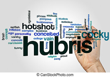 Hubris word cloud - Hubris concept word cloud background