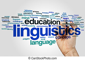 Linguistics word cloud - Linguistics concept word cloud...