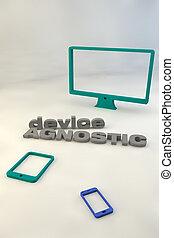 Device agnostic poster - 3D Device agnostic poster. 3d text...