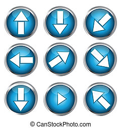 Buttons for web design, arrow icon set