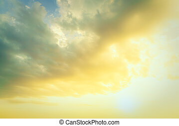 Sunrise on sky - Beautiful sunrsie on sky background -...