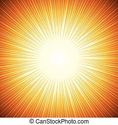 Vector Sun Sunburst Pattern