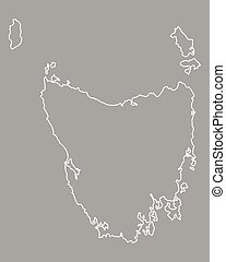 Map of Tasmania