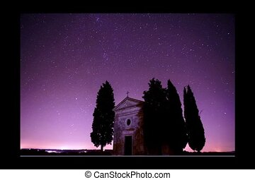 Timelapse with stars - Timelapse with starry night and...