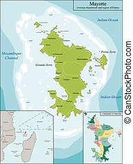 Map of Mayotte - Mayotte is an overseas department and...