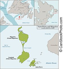 Saint Pierre and Miquelon map - Overseas collectivity of...