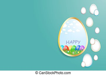 Simple Happy Easter green card