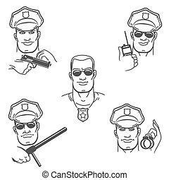 Police Officer Emblem Set