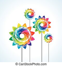 a toy pinwheel - illustration of isolated a toy pinwheel on...