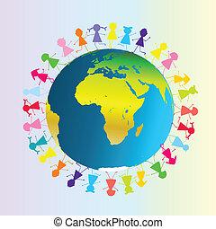 Children around planet Earth