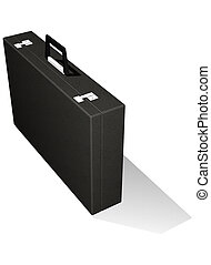 Business briefcase - Black leather business briefcase...