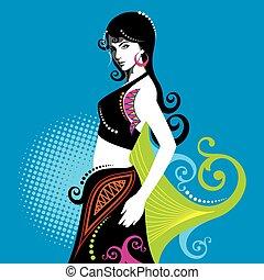 creative fashion beautiful women