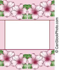 Flower frame. Floral border. Flowers of azalea - Flower...