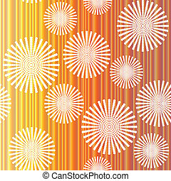 Retro background.with abstract flowers