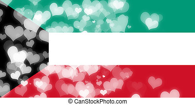 Kuwait flag with some soft highlights and folds