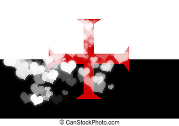 Templar knight flag - Templar knight with some soft...