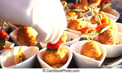 finger food catering cocktail party - Fish ball finger food...