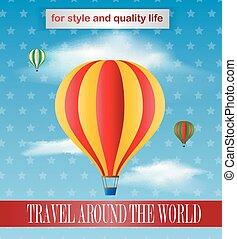 Vintage baloon poster design