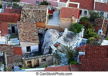 tile roof tops in Athens Greece