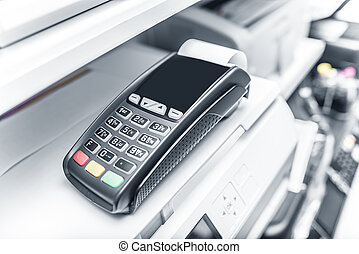 Bank terminal and payment card. - Bank terminal and payment...