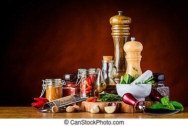 alimento, Tempero, ingredientes