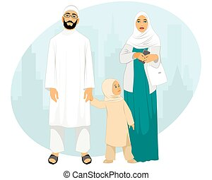 Young muslim family